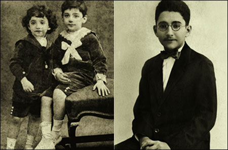 Adi with Rustom Marzban & (right) Adi as a young man