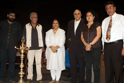 Deepa Gahlot, second from right at the first NCPA Centrestage festival