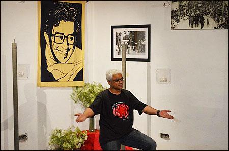 Sudhanva Deshpande at Studio Safdar opening